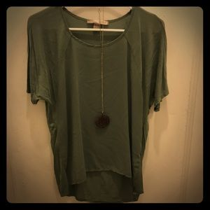 Green blouse with free necklace!